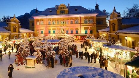 Romantische Kerstmarkten In Salzburgerland Cartoon Productions